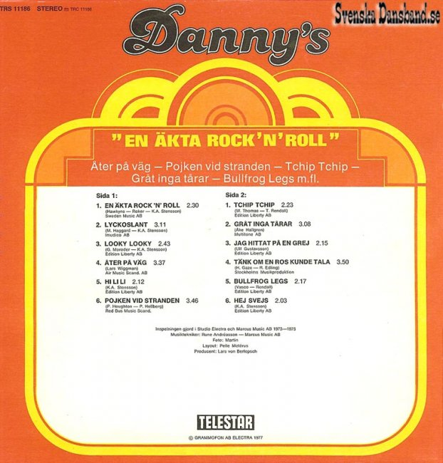 "DANNY'S LP (1977) ""En äkta rock'n'roll"" B"